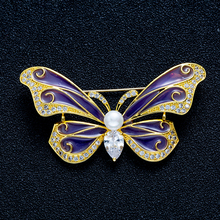 Cute Animal Enamel Colorful Butterfly Pearl Brooches Pins And For Women Vintage Fashion Jewelry Party Gifts