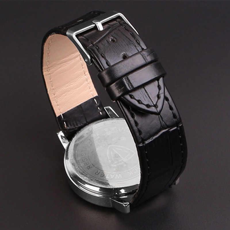 Bracelet de montre ceinture noir bracelets de montre bracelet en cuir véritable bracelet de montre 16mm 20mm montre boucle accessoires bracelet