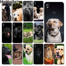 MaiYaCa funny Black White labrador dog Soft Silicone TPU Phone Cover for Xiaomi Redmi 5 5Plus Note4 4X Note5 6A Mi 6 Mix2 Mix2S(China)