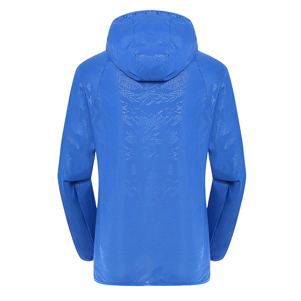 Men's Women Casual Jackets Plus Size Candy Color Windproof Ultra-Light Rainproof Windbreaker Hooded Coat Jackets 19
