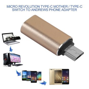 25dbfec3137 5 piezas USB tipo C macho a Micro USB hembra USB-C Cable adaptador  convertidor tipo c