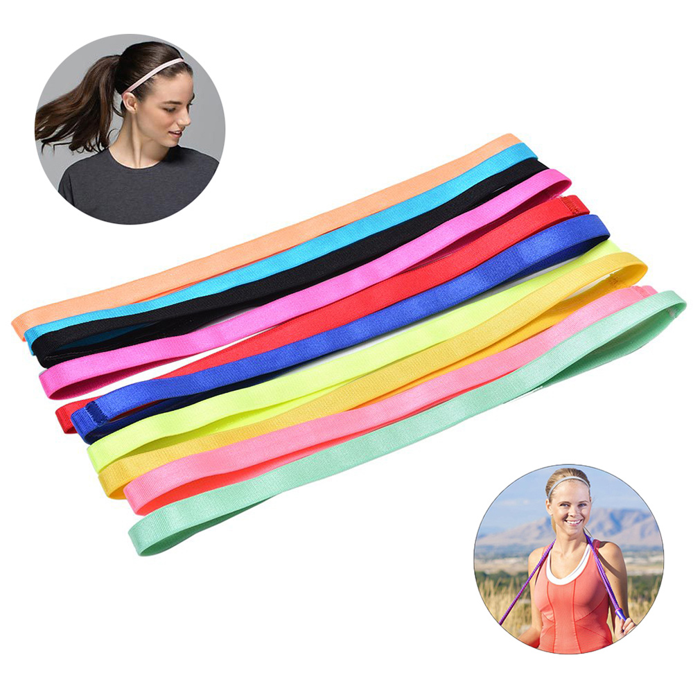 Thin Sport Headbands For Women And Men Non-slip Yoga Hair Band Elastic Sweatbands For Football,Basketball,Soccer,Tennis And Golf