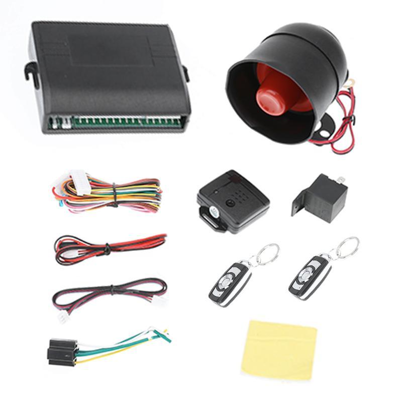 Nuevo Universal 1-coche alarma vehículo sistema de protección de seguridad sistema de entrada sin llave sirena 2 Control remoto ladrón caliente venta