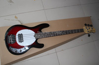 3.Top qulity New style 4 strings Natural wood RED OIP electric bass guitar music man stingray bass