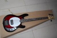3. Top qulity nuevo estilo 4 cuerdas de madera natural rojo OIP bajo eléctrico guitarra Music man Stingray bass