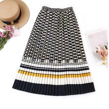 Женская плиссированная юбка с высокой талией, на весну лето