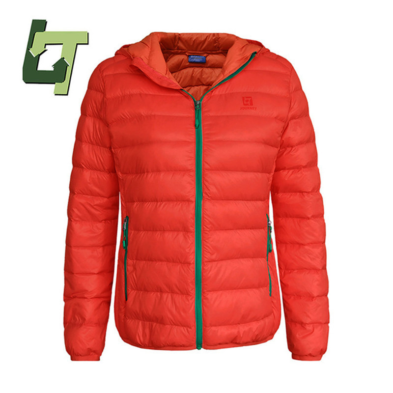 все цены на 2018 Hooded Lightweight Puffer Goose Feather Coat Climbing Windproof Jacket Women Sports Camping Hiking Winter Outdoor Coats