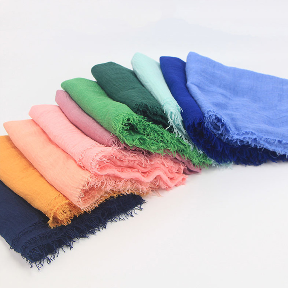 Cotton Headscarf Muslim Headscarf Hijab Solid Color Fashion Headscarf Outdoor Ethnic Clothing 15 Colors Islamic Middle East 2018 women scarf muslim hijab scarf chiffon hijab plain silk shawl scarveshead wrap muslim head scarf hijab