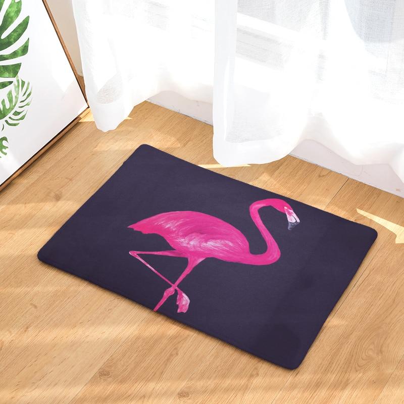 Bodenmatte Flamingo Gedruckten Rutschfeste Duschmatte Bad Teppich