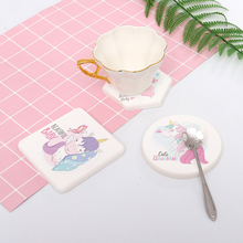 fa3734f81 Unicorn Diatom Mud Cup Pad with Water Absorption Thermal Insulation and  Anti-scalding Diatomite Tea