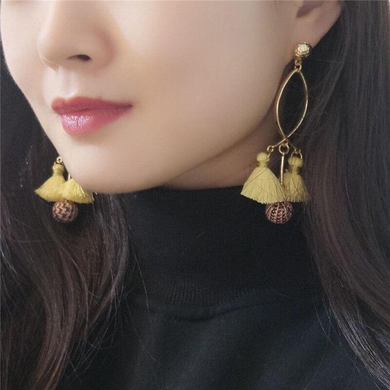 artificial earrings pendientes jujia boucle d 39 oreille mignon boucle d 39 oreille pompon multitone