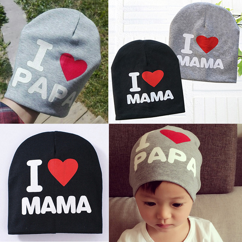 2018 baby hat knitted hat warm cotton beanie baby winter hat infant baby toddler girl boy MAMA print baby hat