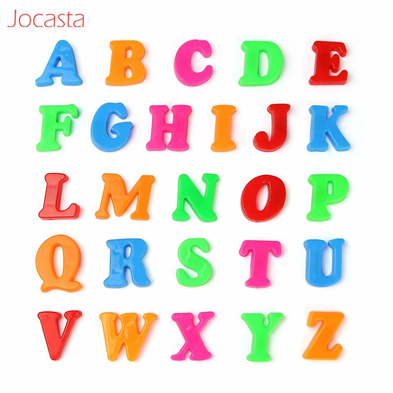 26 Pcs Learning Alphabets Cards Magnetic Toy For Kids Educational Toy Colorful Puzzles Montessori Letters Toys For Children !