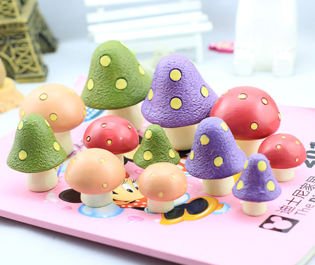 New arrival zakka mushroom home mini set series for doll house decoration,Home decoration