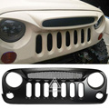 Ghost Type Auto Front Grill Mesh Grille Cover for Jeep Wrangler 2007 2008 2009 2010 2011 2012 2013 2014 2015 Car Accessories