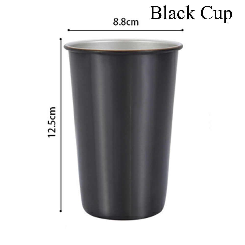 500 مللي أكواب قهوة متعددة الألوان شفاطات معدنية قابلة لإعادة الاستخدام أكواب خارجية للتخييم والسفر أكواب شرب وعصير الشاي والبيرة للمطبخ