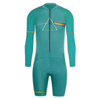 Men's Long Sleeve Skinsuit Pro Jumpsuit Speed Trisuit Ropa Ciclismo Maillot Pro One Piece Triathlon Wear Cycling Jersey Suit