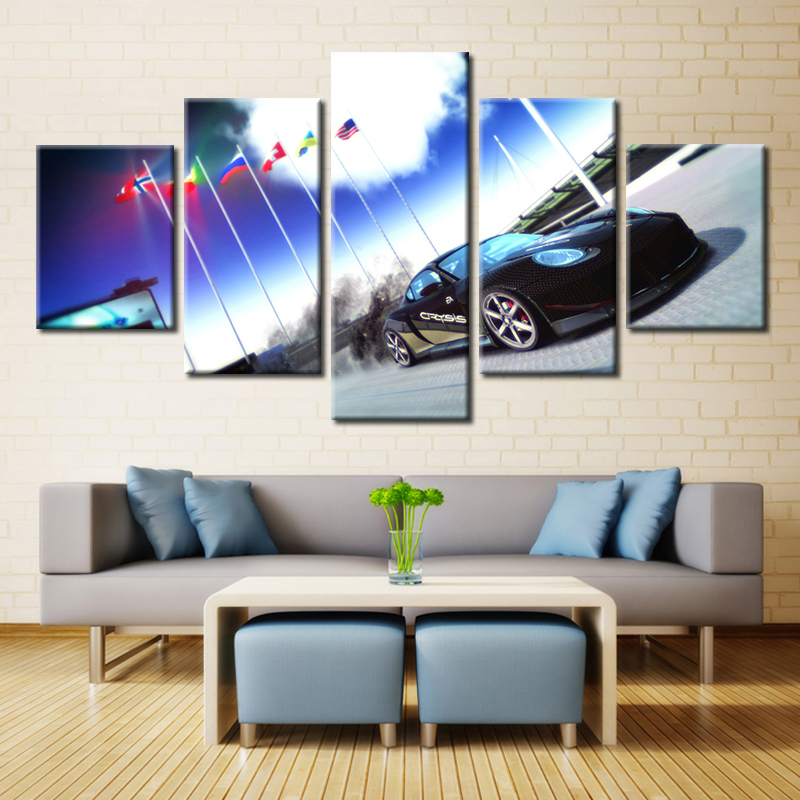 Embelish Modern Wall Art Posters For Living Room 5 Pieces Cool Sports Car HD Print Canvas Painting Home Decor Modular Pictures