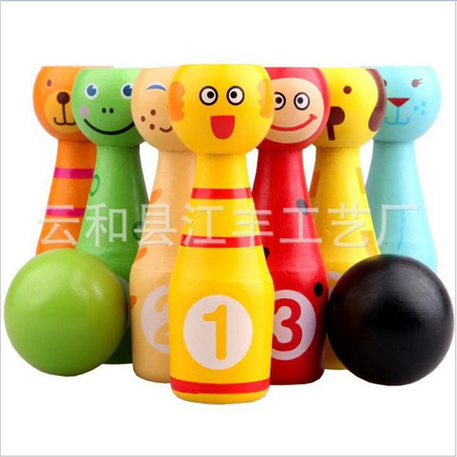 Novo estilo de crianças dos desenhos animados animais boliche aptidão Brinquedo jogo de Puzzle brinquedos encantador engraçado bola brinquedo esporte ao ar livre