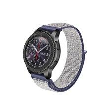 Cinta de Nylon Para Samsung Engrenagem S3/S2/Esporte S4 Pulseiras de Relógio Inteligente Relógio Galáxia 42mm 46mm Esportes relógio Pulseira de homens e mulheres