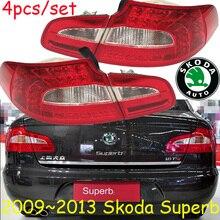 Tampon lambası süper arka lambası, 2009 ~ 2013, LED, araba aksesuarları, süper arka ışık, süper sis lambası, Octavia,Fabia, süper