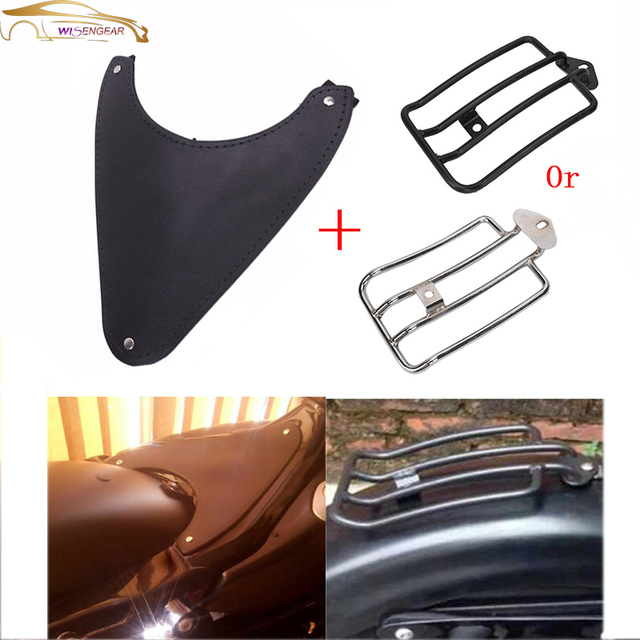 WISENGEAR Motorcycle Dust Seat Rubber Frame Cover + Fender Luggage ...
