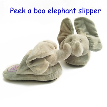 New Ideas Peek a boo Plush Toys Slippers Open your eyes when walking home filled cotton