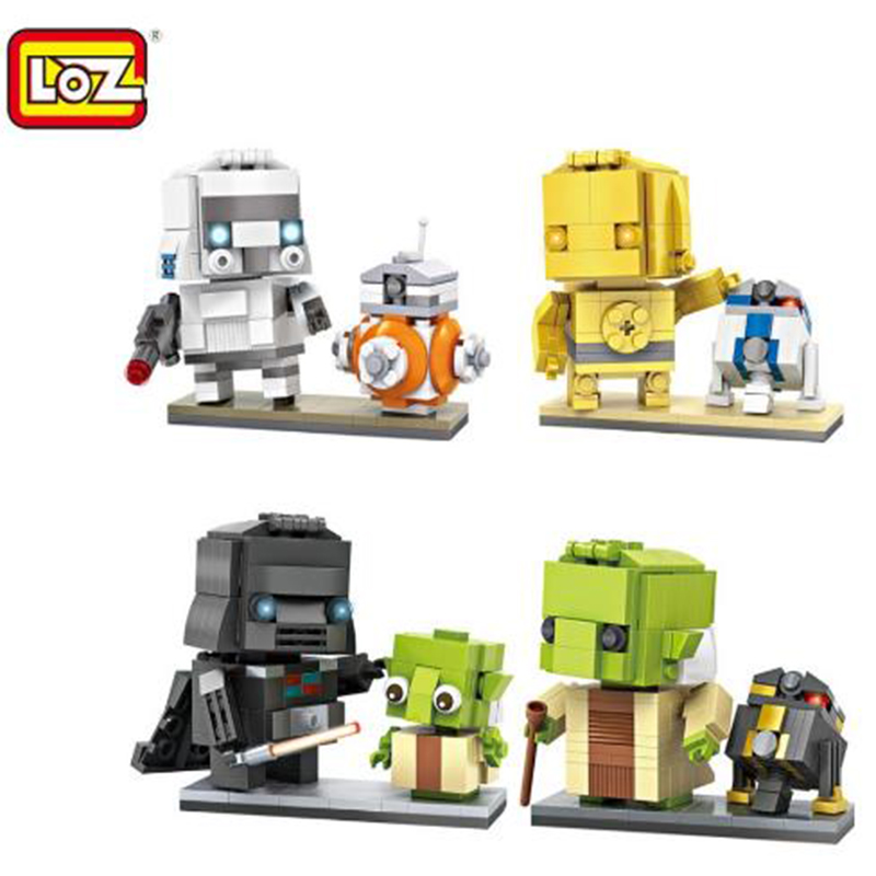 LOZ Mini Blocks Star wa Yoda Small size DIY Building Toys R2 d2 Auction Model Toys Juguetes Boy Gifts Kids Toy 1501 loz super mario kids pencil case building blocks building bricks toys school utensil brinquedos juguetes menino jouet enfant