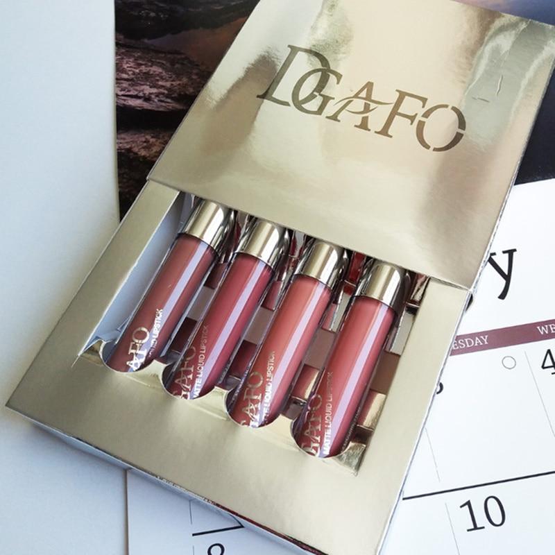 DGAFO Brand 2019 Liquid Matte kyliejenner lipstick Set Makeup Long Lasting Waterproof Lip gloss cosmetics lip kit
