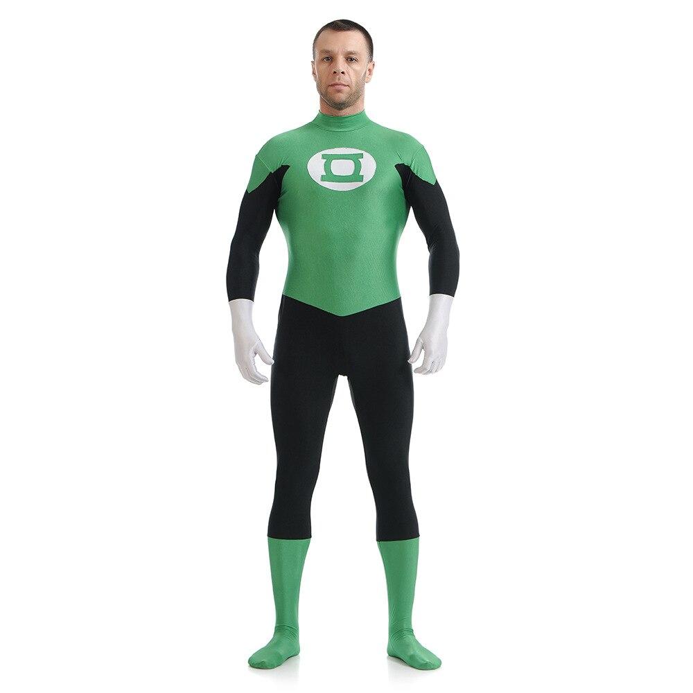 Nuovo Supereroe Costumi Lanterna Verde Cosplay Zentai Per Adulti 3d Stampato Elasticità Teatrale Justice League Dc Set Abbigliamento