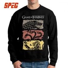 Game Of Thrones Vintage Sweatshirt Fan Movie House Stark Hoodies Targaryen Tops Lannister Man Cotton Pullover Hoodie