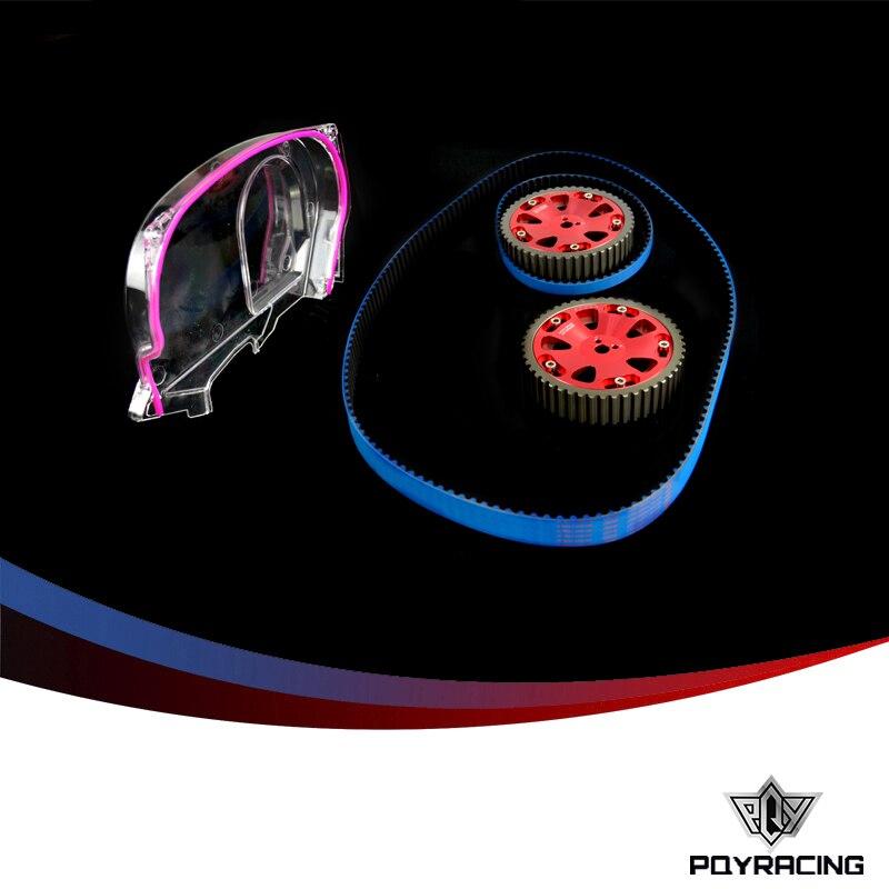 PQY - ГБНК гоночный ремень ГРМ + Алюминиевый кулачковый механизм + прозрачный кулачок Крышка для Мицубиси Лансер эволюшн 9 Эво ІХ система mivec двигатель 4G63