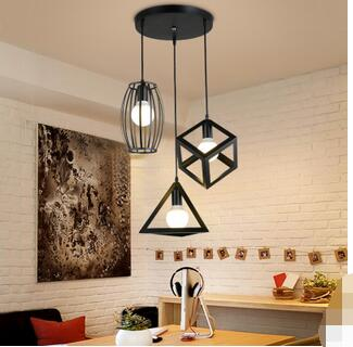 Nordic retro industrial wind restaurant Pendant Light three creative personality bar iron dining room hanging lamps TA10131 nordic retro industrial wind restaurant