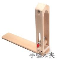 1Pcs Hand stitched Wooden Clip DIY Leathercraft Sewing Leather Wood+Stell Clip Wide Hand Sewing Tool Magnet Foldable