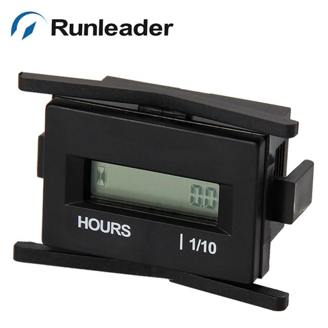 (20pcs/lot) Digital Waterproof LCD Engine Hour Meter Running Hours Meter DC 6V 12V 24V 36V 48V