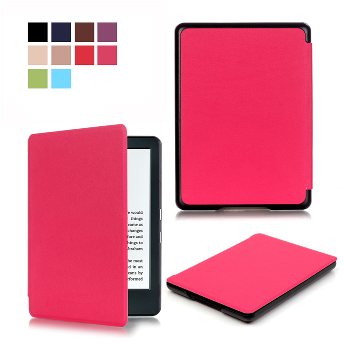 PU Leather Smart Cover Case for Amazon New Kindle 8 8th 2016 Generation Gen Fundas Version + 2 Pcs Screen Protector Gift cover pu version