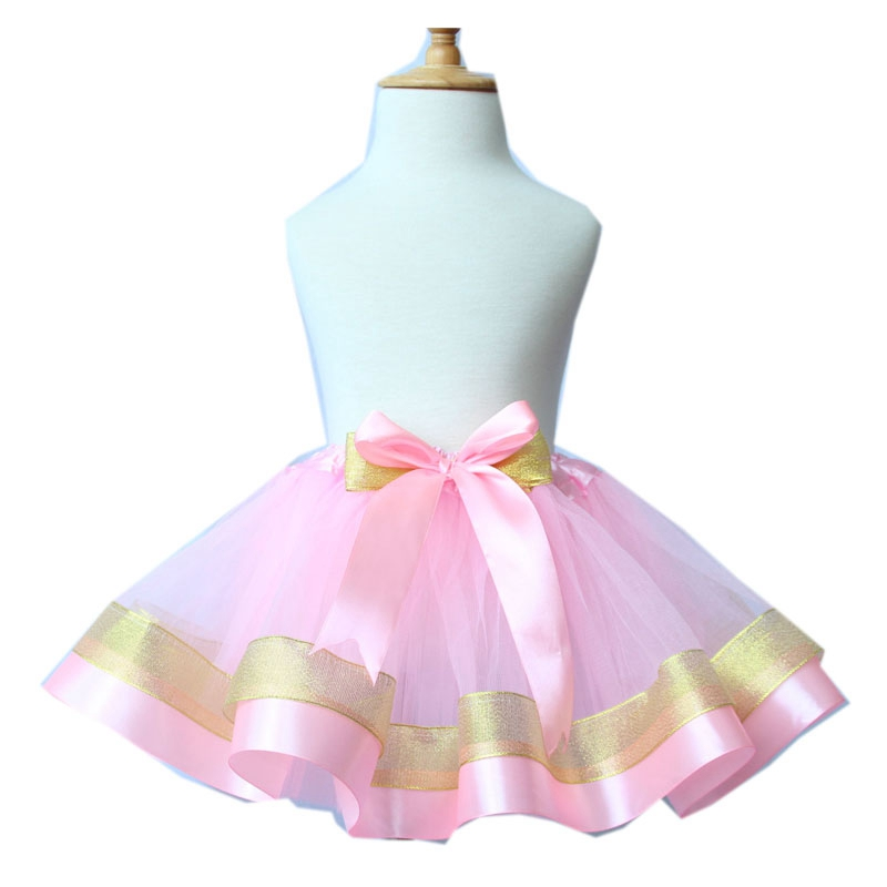 Baby Girls Ball Gown Ribbon Tulle Skirt Toddler Girl 3 layer Tutu Skirt Princess Mini Dance Fashion Pettiskrit For Baby Girls