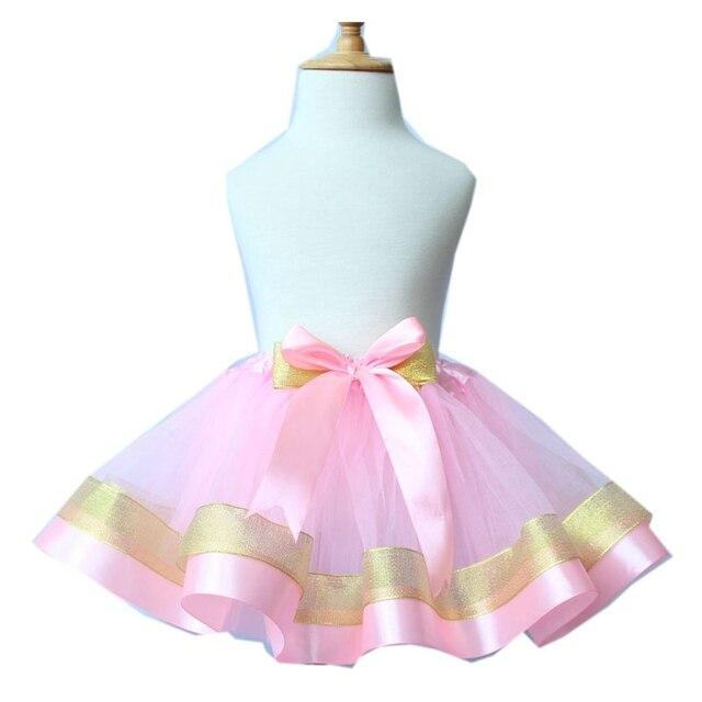 0d54d160c73b Baby Girls Ball Gown Ribbon Tulle Skirt Toddler Girl 3 layer Tutu ...