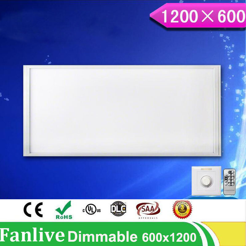 5pcs/lot 36W 300*600 48w 300*1200/72W 600 *1200 Brightness Dimmable Led Panel Light 110v 220v SMD2835 With Dimmer And Controller цена