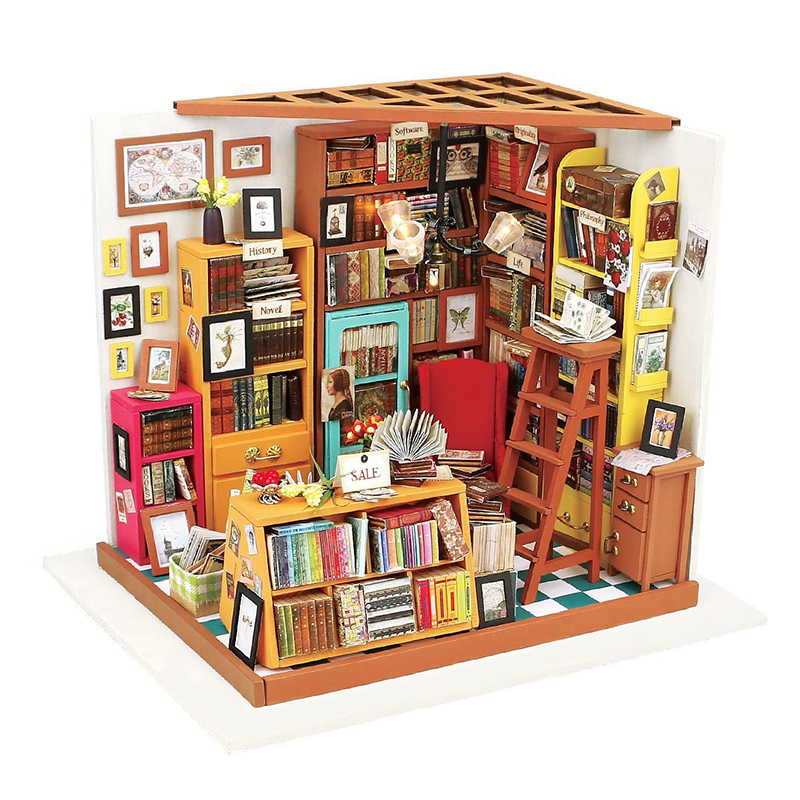 DIY Wooden House Miniaturas with Furniture DIY Miniature House Dollhouse Toys for Children Christmas and Birthday Gift DG102 diy wooden house miniaturas with furniture diy miniature house dollhouse toys for children christmas and birthday gift a28
