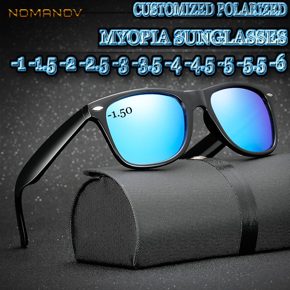 Custom Made Myopia Minus Prescription Polarized Lens Summer Style Classic Simple Frame Outdoor Polarized Sunglasses 1 1 5TO 6 in Men 39 s Sunglasses from Apparel Accessories