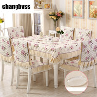 Peach Blossom Printed Table Cloth 13 Pcs Antislip Tablecloth Suit Orchid Printed Table Cover Wedding Tablecloth Tafelkleed