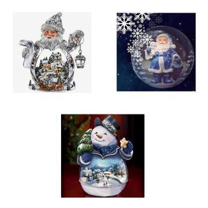 3 комплекта DIY 5D алмазная вышивка картина Снеговик Санта Клаус крестиком наборы для детей Рождественский подарок