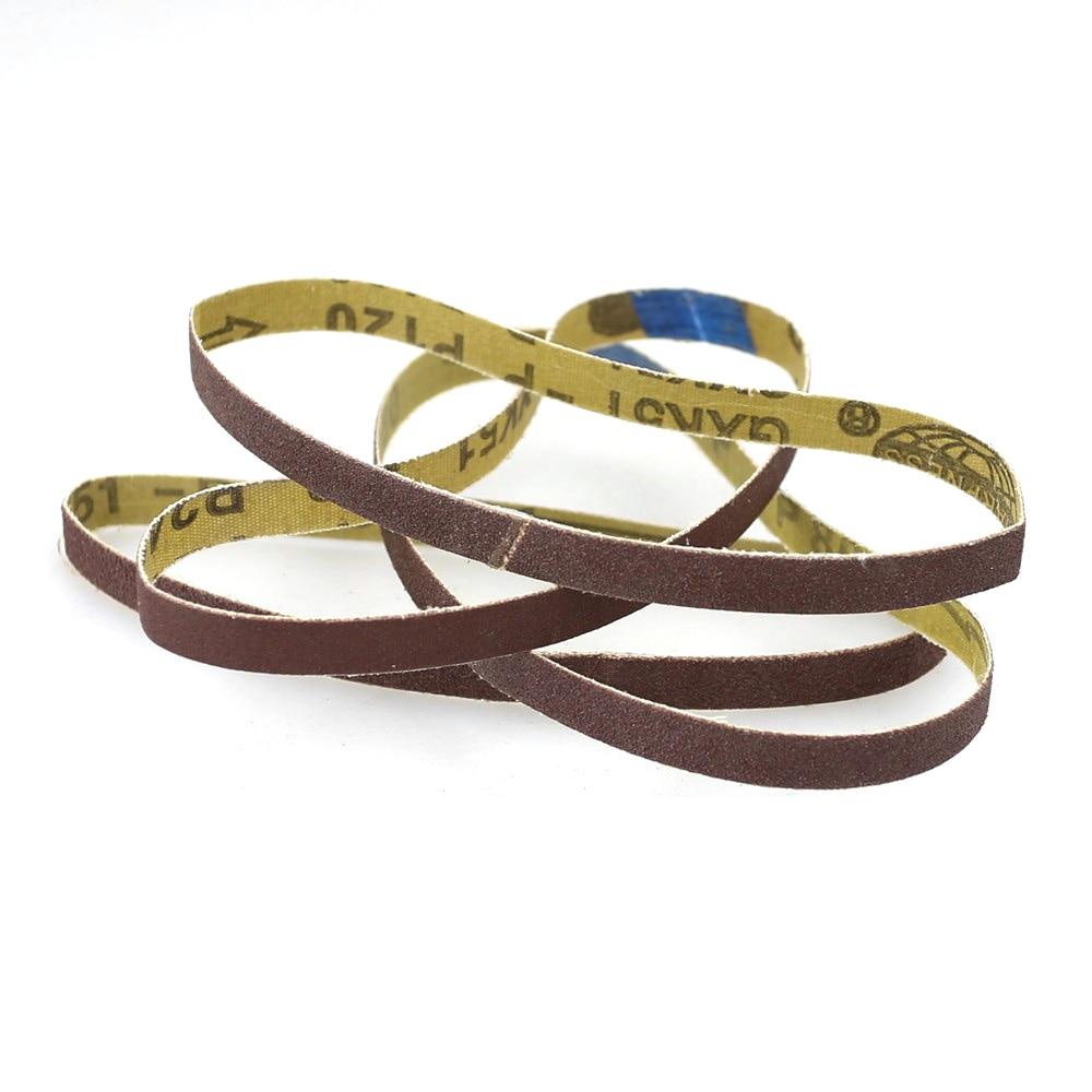 10 Pieces 330*10mm Sanding Belts Portable Air Sander Tool