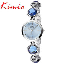 KIMIO high model girls watches chrome steel Women's Bracelet Watches crystal woman gown wristwatches Quartz