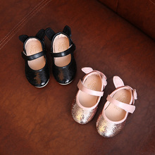 Bling sequin princess girls dance shoes dress shoes for girls single shoes children leather shoes bbay moccasins
