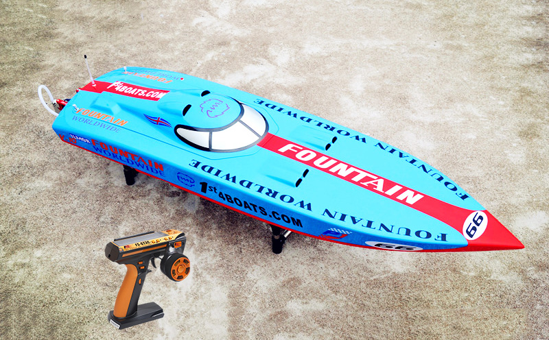 G26IP1 ARTR-RC Fiber Glass 26CC Gasoline Racing Speed RC Boat W/ Propeller/Water Cooling system/Radio System Blue h625 pnp spike fiber glass electric racing speed boat deep vee rc boat w 3350kv brushless motor 90a esc servo green