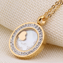 316L Stainless Steel Crystal Pendant Jewelry fashion necklaces for women