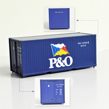 20ft P&O Container Scale 1:87 ho scale train container model truck layout Material ABS with bule color high quality Material ABS 1 87 40 feet refrigerater freezer flatbed accessories container ho scale train model container model train layout accessories