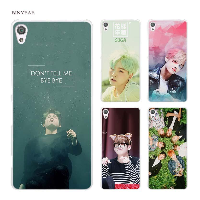 BINYEAE bts bangtan boys Taehyung RUN Hard Clear Case Cover for Sony Xperia XA XA1 X M4 Aqua M5 E4 E5 Z5 Z3 Z2 Z1